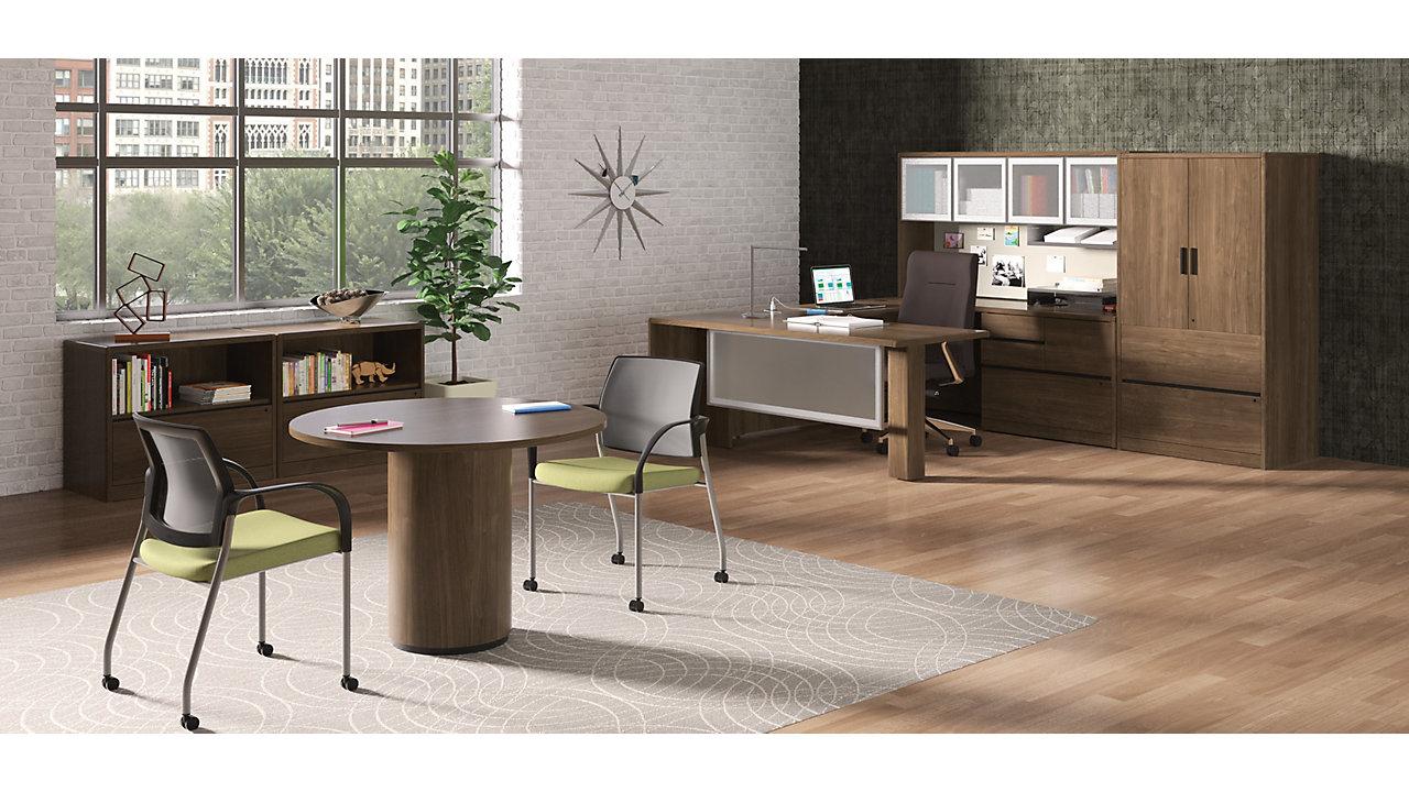 10700 Series U Shaped Desks in a Private Office