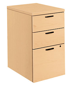 Hon 10500series Mobile Pedestal Natural Maple Front Side View H105102 Dd