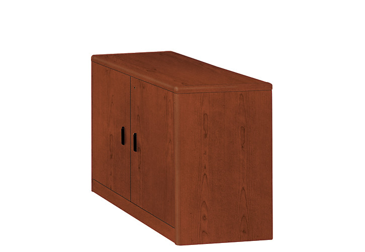 HON 10700 Series Storage Cabinet Brown Front Side View H107291.JJ