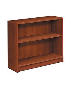 HON 1870 Series 2 Shelf Bookcase Cognac Color Front Side View H1871.COGN