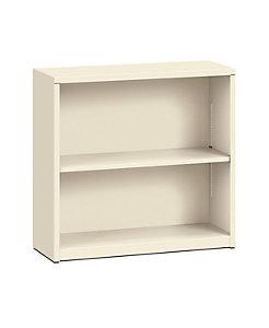 HON Brigade 2-Shelf Bookcase Putty Front Side View HS30ABC.L