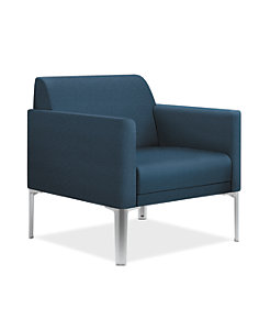 HON Endorse Collection Single Seat Lounge Centurion Cerulean Color Front Side View HL1SL..RL.CU90.P6N
