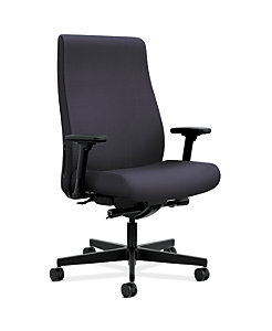 HON Endorse Collection Executive High-back Big and Tall Chair Tradition Distant Color Adjustable Arms Front Side View HLEBUT.Y4.V.A.SMOMTRA62.SB