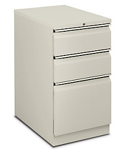 HON Flagship Mobile Pedestal White Front Side View H18723R.L.Q