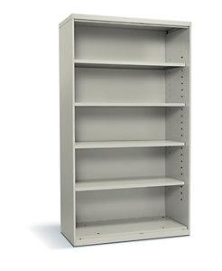 HON Flagship 5-Shelf Bookcase White Front Side View HFSC183664W.Q
