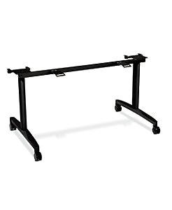 """HON Huddle Table Base Kit for 24""""D x 60-72""""W Tops Black HMBFLIP24L.C.P"""