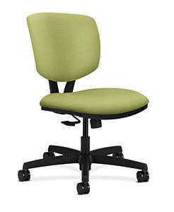 HON Volt Task Chair Green Armless Synchro-Tilt Front Side View H5723.H.NR82.T