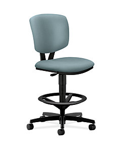 HON Volt Task Stool Gray Armless Front Side View H5725.H.NR96.T