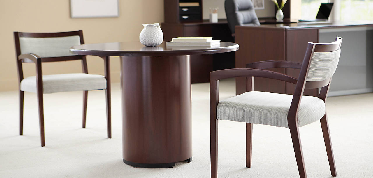 HON Cambia Office Guest Chair with 10700 Series Desk