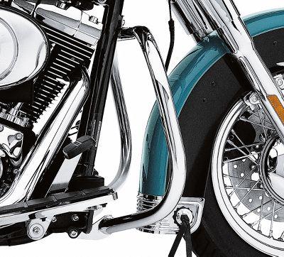 Chrome Black Engine Guard Bar For Harley Fatboy Heritage Softail Springer 00-17 FLSTNSE FLSTN FLSTF Classic FLSTC Slim