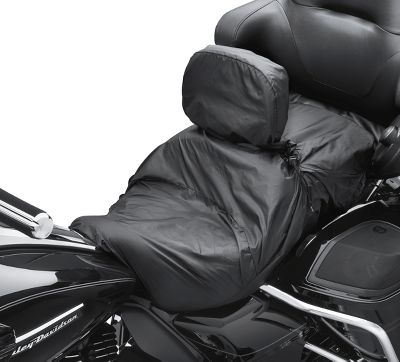 Touring Seat Rain Cover With Rider Backrest Motorcycle