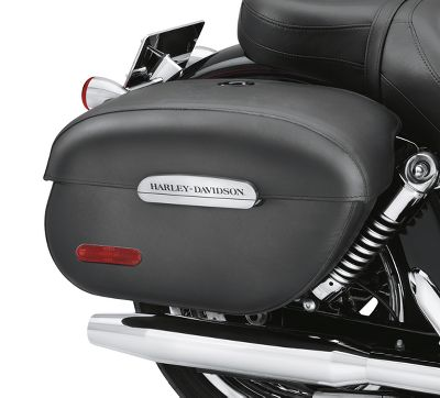 Rigid Locking Leather Saddlebags | Saddlebags | Official ...