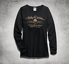 110th Long-Sleeve Skull Tee