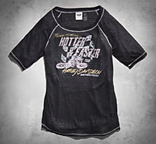Hotter & Faster Sheer Stripe Tee