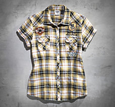 Speed Kat Double Cloth Plaid Shi...