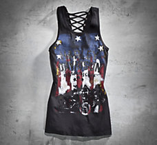 Laced-Back Stars & Stripes Tank