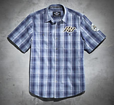 High Voltage Plaid Short-Sleeve ...