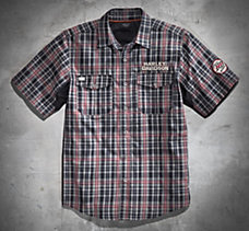 Motors Plaid Performance Shirt