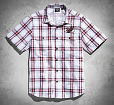Sport Plaid Short-Sleeve Perform...