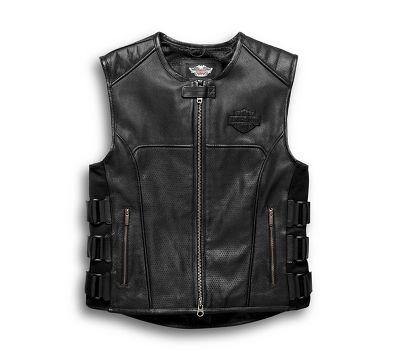 Harley Davidson Denim And Leather Jacket