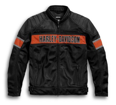 men 39 s trenton mesh riding jacket mesh official harley. Black Bedroom Furniture Sets. Home Design Ideas