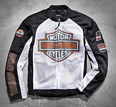Bar & Shield Mesh Jacket