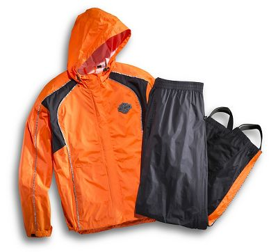 Women s hi vis rain suit stay dry official harley for Motor cycle rain gear
