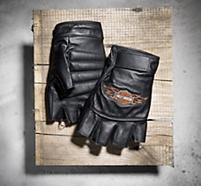 Ride Ready Fingerless Leather Gl...