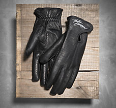 Perforated Full-Finger Gloves