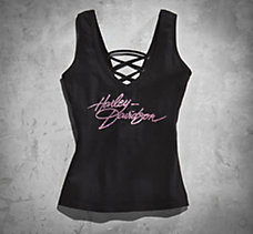 Pink Label Lace Back Tank