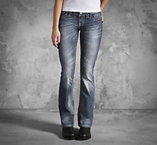 Low-Rise Stretch Bootcut Jeans