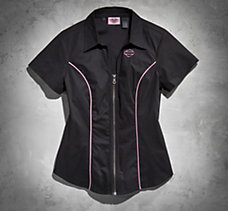 Pink Label Zip-Front Shirt