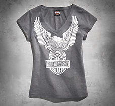 Iconic Eagle Vintage V-Neck Tee