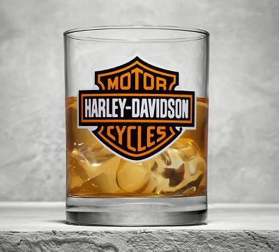 Harley Davidson Old Fashioned Glass