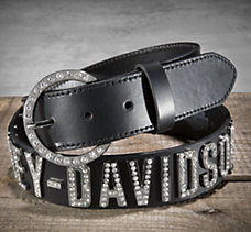 Crystal Lettered Belt