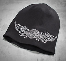 Stud Wing Bar & Shield Knit Hat