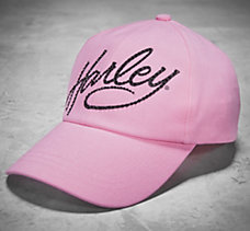 Pink Label Crystal Harley Cap