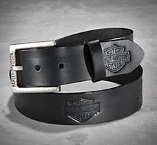 Embossed Bar & Shield Belt