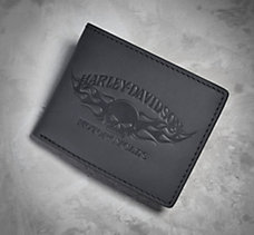 Flaming Skull Flip Fold Wallet