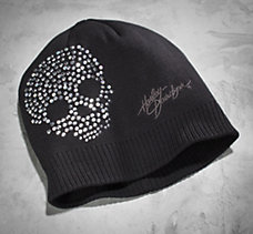 Crystal Skull Knit Hat