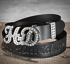 Belt with Bling H-D Buckle