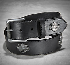 Bar & Shield Concho Belt