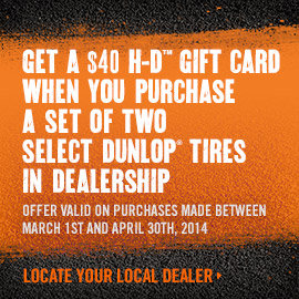 H-D Gift Card with qualifying In-Store purchase!