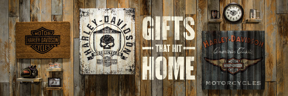 Gifts for entertaining gift guide harley davidson for Harley davidson decorations for home