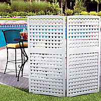 Whitewash Outdoor Privacy Screen
