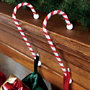 Candy Cane Stocking Holders