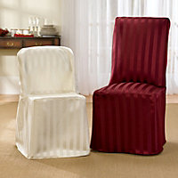 Tonal Stripe Dining Room Chair Seat Covers