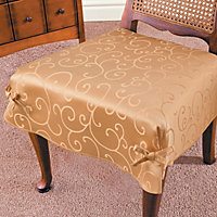 Tonal Swirl Dining Room Chair Seat Covers