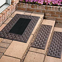 Weave Frame Doormat U0026 Outdoor Rubber Stair Treads