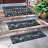 Iron Grate Rubber Outdoor Rubber Stair Treads